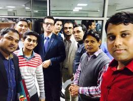 with some bangladeshi journalist