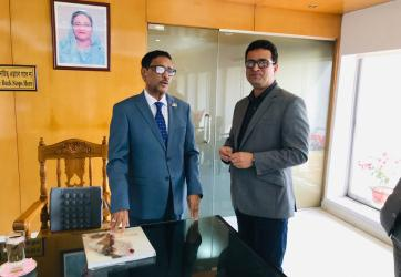 With Road Transport and Bridges Minister Obaidul Quader. 2019