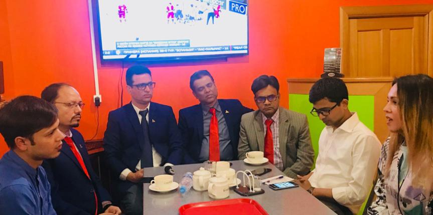 Reception of Bangladeshis in Moscow, Russia. In 2019