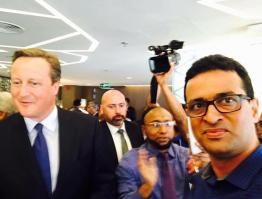 selfie with David Cameron in dhaka