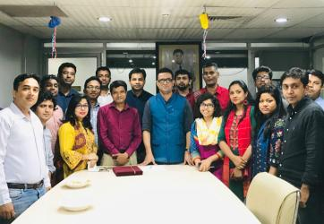 With ATN Bangla journalist colleagues. In 2019.